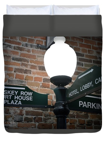 Prescott Directions Duvet Cover by Bill Dutting