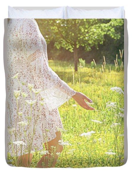 Present Moment.. Duvet Cover by Nina Stavlund