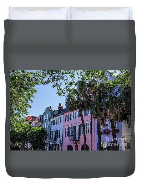 Presenting Rainbow Row  Duvet Cover