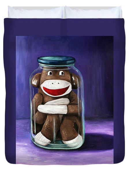 Preserving Childhood 3 Duvet Cover by Leah Saulnier The Painting Maniac