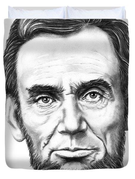 President Abe Lincoln Duvet Cover by Murphy Elliott