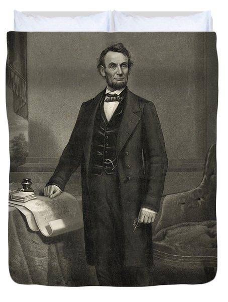 President Abraham Lincoln Duvet Cover by International  Images