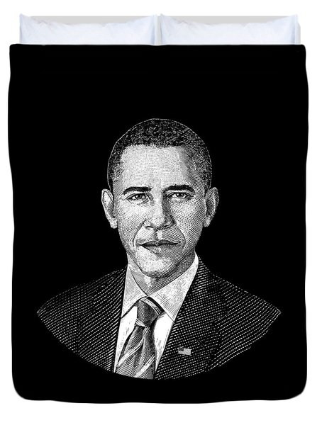 President Barack Obama Graphic Duvet Cover by War Is Hell Store
