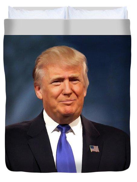 President Donald John Trump Portrait Duvet Cover