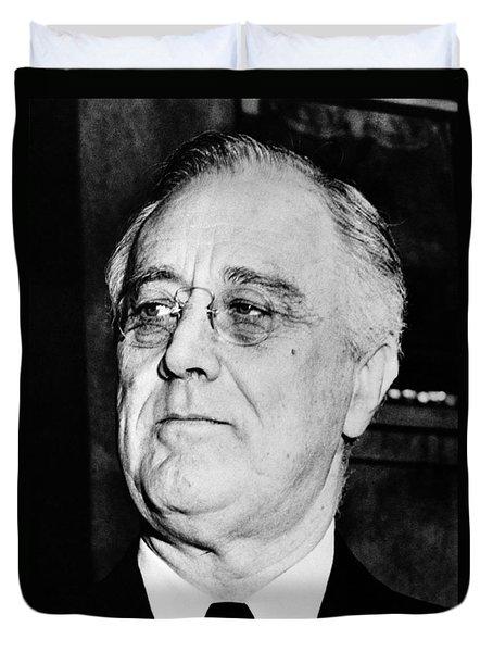 President Franklin Delano Roosevelt Duvet Cover by War Is Hell Store