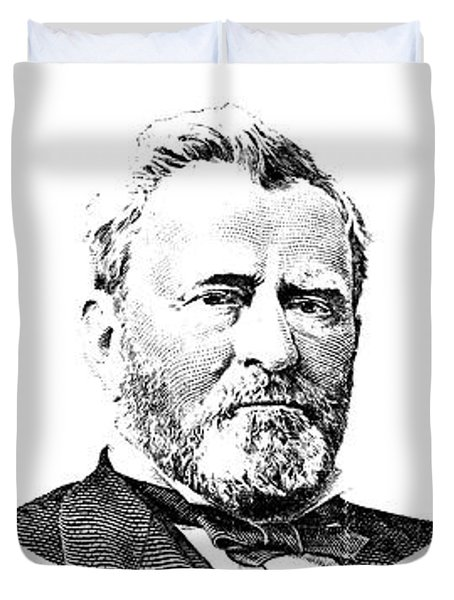 President Grant Red White And Blue Duvet Cover