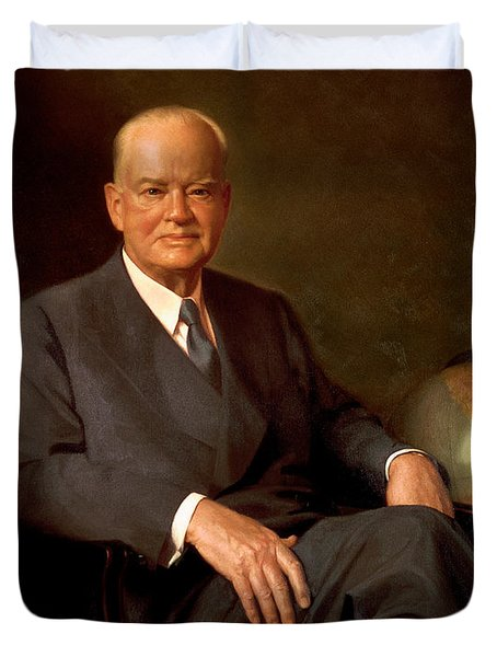 President Herbert Hoover Painting Duvet Cover