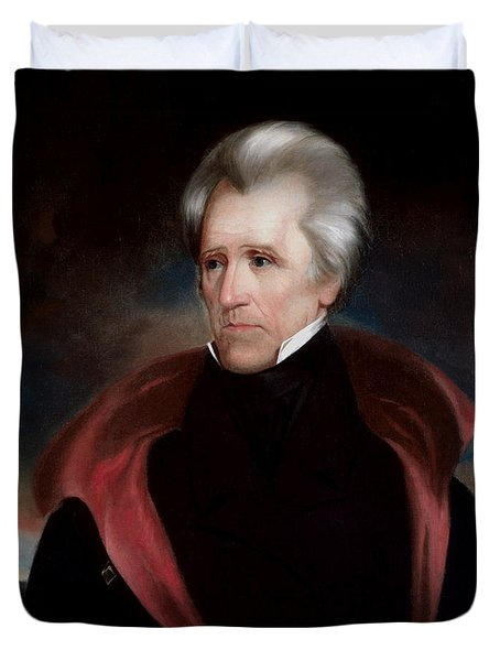 President Jackson Duvet Cover by War Is Hell Store