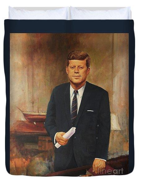 President John F. Kennedy Duvet Cover by Noe Peralez