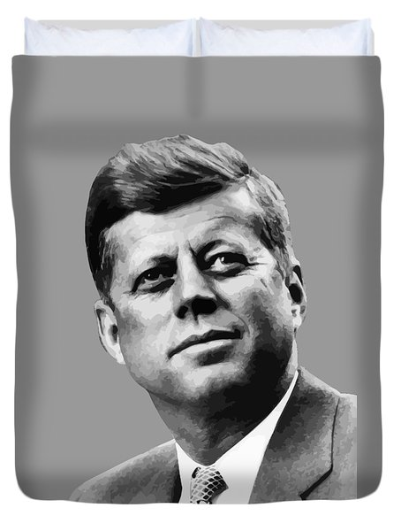 President Kennedy Duvet Cover by War Is Hell Store