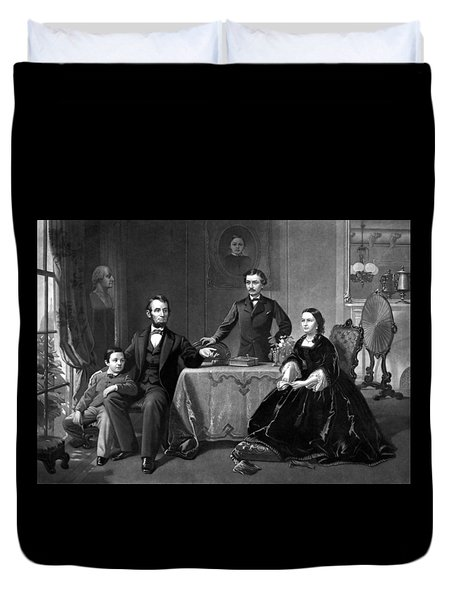 President Lincoln And His Family  Duvet Cover