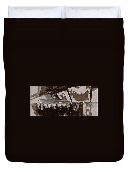 President Muffley's Dilemma Duvet Cover by Kurt Ramschissel
