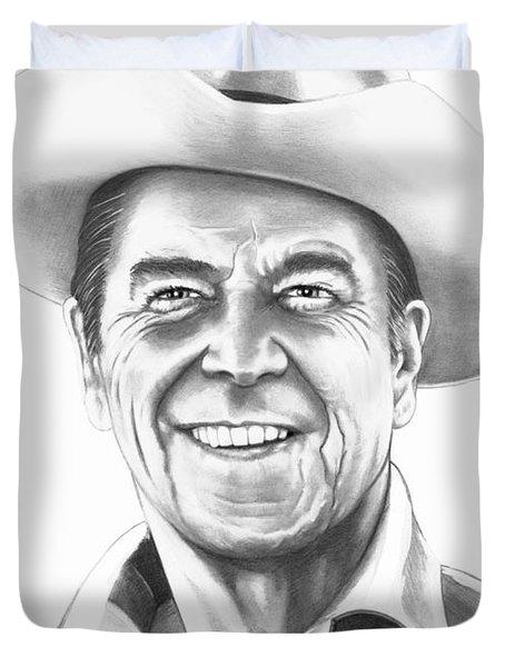 President Ronald Regan Duvet Cover by Murphy Elliott