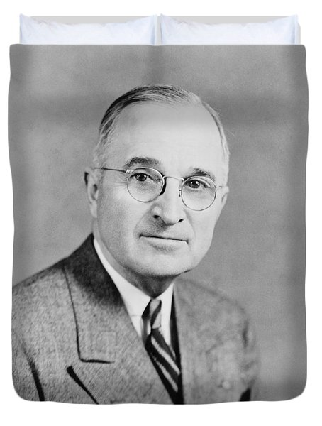 President Truman Duvet Cover by War Is Hell Store