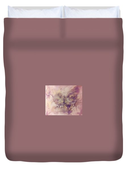 Duvet Cover featuring the painting President Trump by Raymond Doward