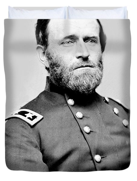 President Ulysses S Grant In Uniform Duvet Cover