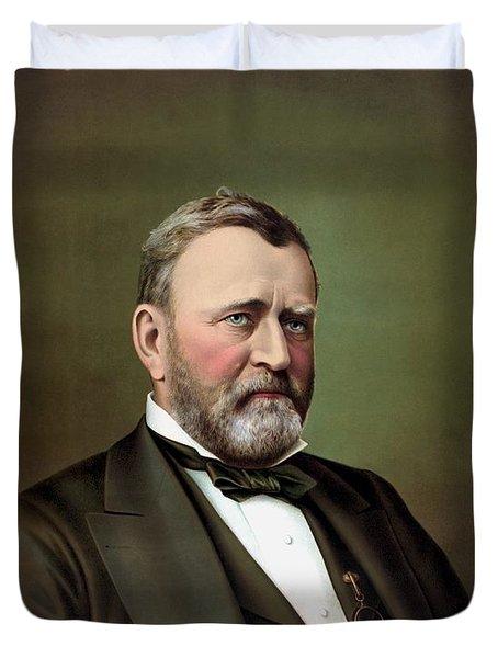 President Ulysses S Grant Portrait Duvet Cover