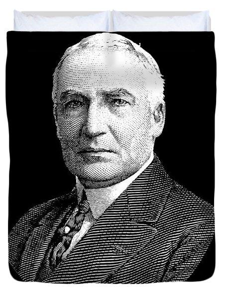 President Warren G. Harding Duvet Cover