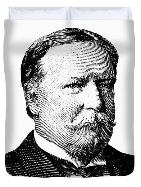 President William Howard Taft Graphic Duvet Cover