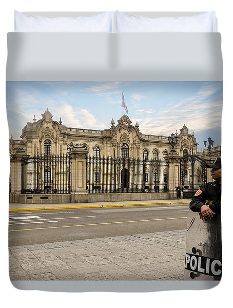 Presidential Palace In Lima Duvet Cover