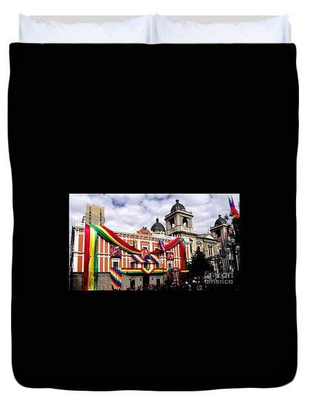 Presidential Palace La Paz, Bolivia Duvet Cover