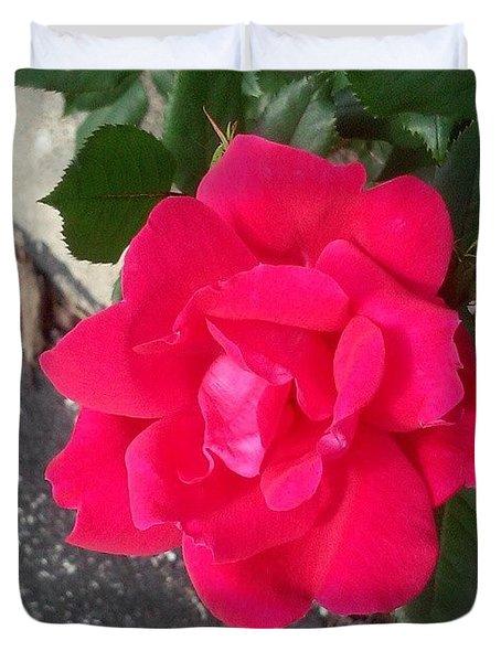 Pretty! ❤ #flower #nature #red Duvet Cover