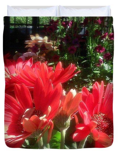 Pretty! ❤ #flowers #nature #orange Duvet Cover