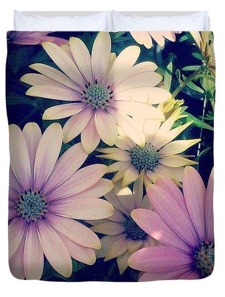 Pretty! 💜 #flowers #purple #yellow Duvet Cover