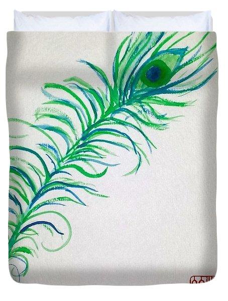 Pretty As A Peacock Duvet Cover