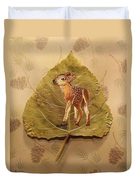 Pretty Baby Deer Duvet Cover by Ralph Root