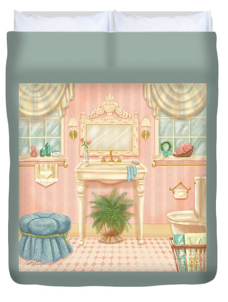 Pretty Bathrooms IIi Duvet Cover