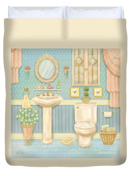 Pretty Bathrooms Iv Duvet Cover