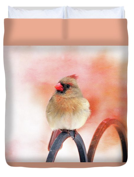 Pretty Cardinal Duvet Cover by Trina Ansel