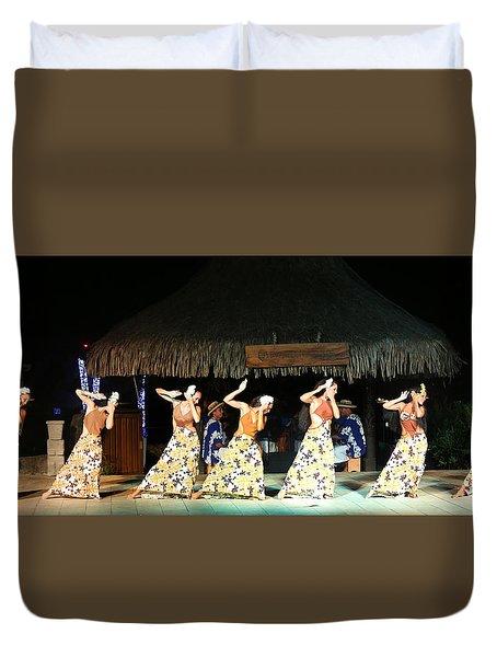 Pretty Dancers In Tahiti Duvet Cover