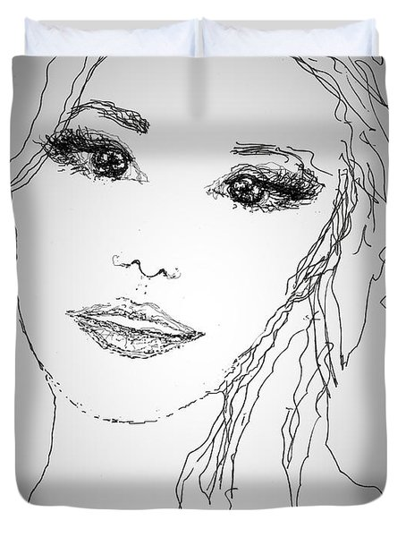 Pretty Eyes Duvet Cover