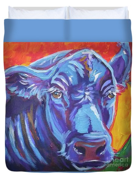 Pretty Face Cow Duvet Cover by Jenn Cunningham
