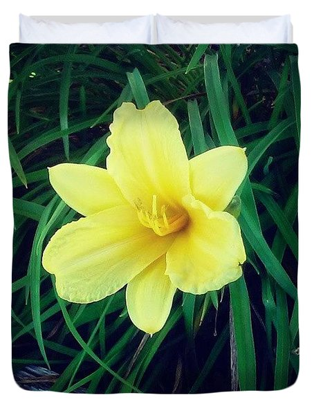 Pretty Flower #flower #nature #yellow Duvet Cover