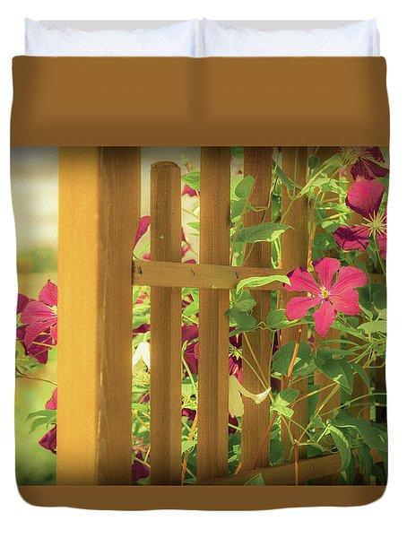 Pretty Flower Garden Duvet Cover