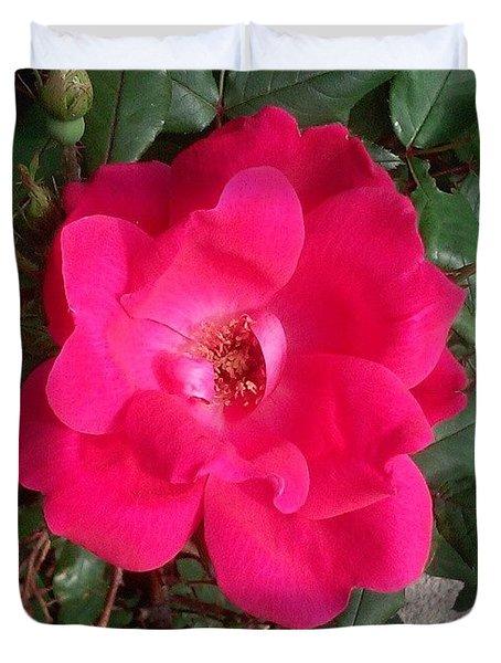 Pretty! #flower #nature #pink Duvet Cover