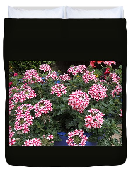 Pretty Flowers Duvet Cover by Pat Tester