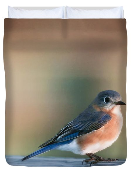 Pretty In Blue Duvet Cover by Phill Doherty