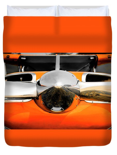 Pretty In Orange Duvet Cover
