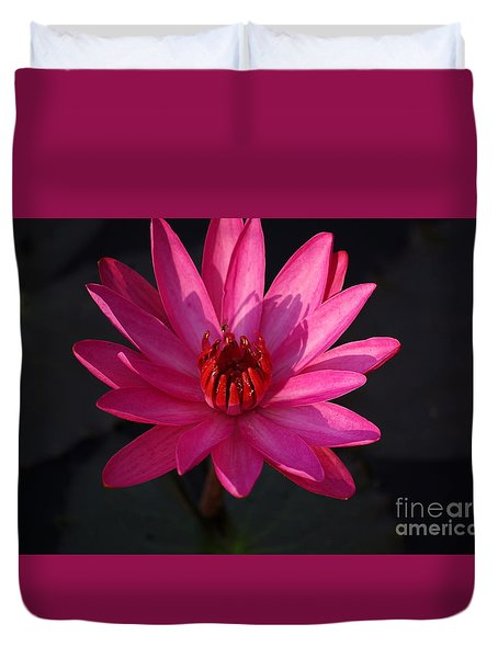 Duvet Cover featuring the photograph Pretty In Pink by John S