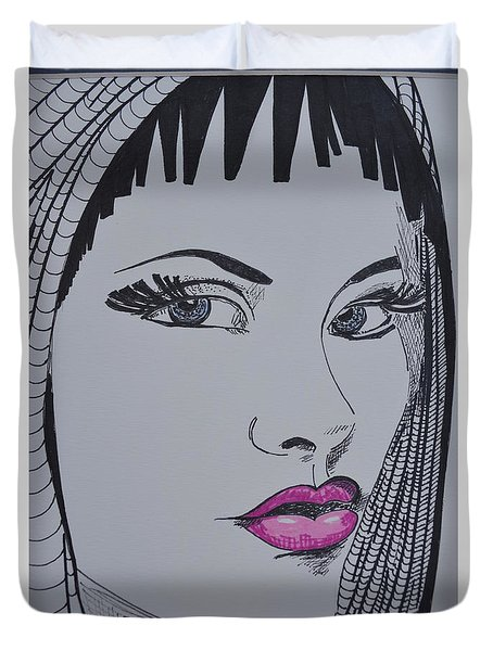 Pretty In Pink Lips Duvet Cover