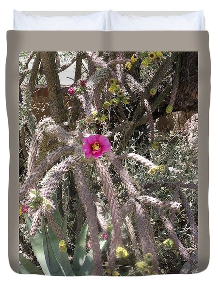 Flower Is Pretty In Pink Cactus Duvet Cover