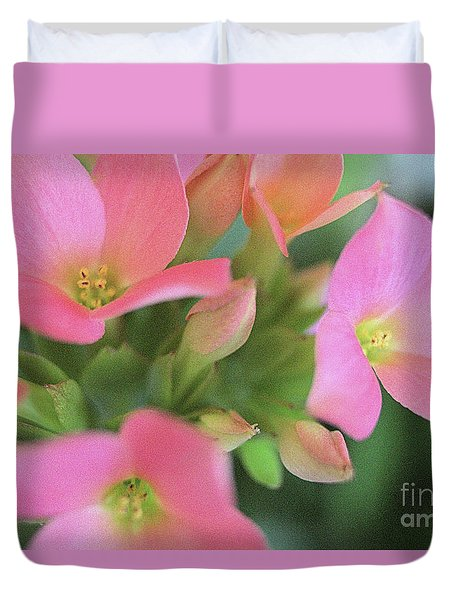 Pretty In Pink Duvet Cover by Victor K