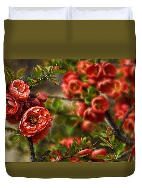 Pretty In Red Duvet Cover