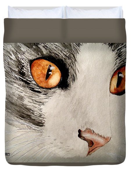 Pretty Little Brown Eyes Duvet Cover