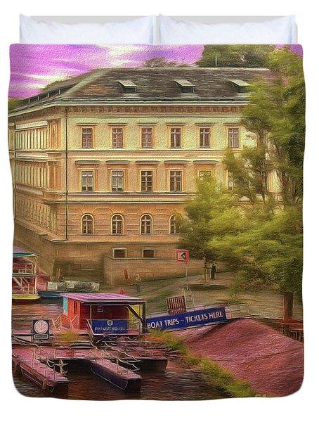 Pretty On The River - Prague Duvet Cover