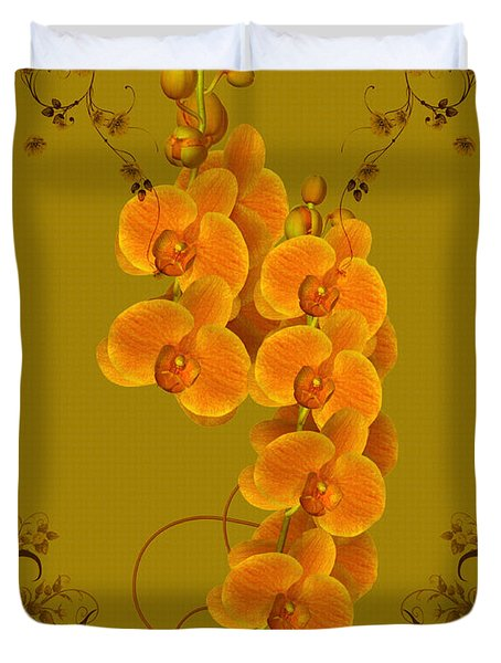 Pretty Orchids Duvet Cover